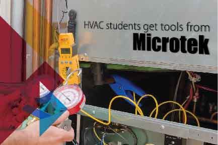 HVAC Students get tools from Microtek in Aurora, CO