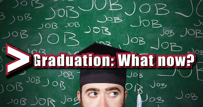 Graduated student thinking about job
